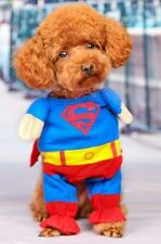 Puppy Cat Dog Pet SuperMan Costume Halloween Outfit Superdog Gift Fancy Dress L