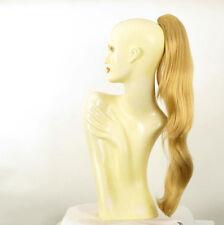 Postiche queue de cheval femme longue 70 cm blond clair doré ref 5 en lg26
