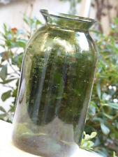 Superbe ancienne Bouteille Pot Bocal en verre soufflé XIXème  ---27cm--- #2