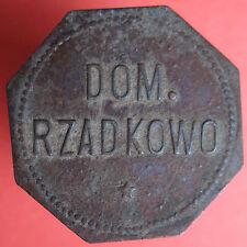 Old Rare Deutsche token - Dom. Rzadkowo (Posen) - 10 - UNLISTED -mehr am ebay.pl
