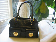 NWT Marc Jacobs Black Iconic Blake Leather Handbag Retail $1470 Made in Italy