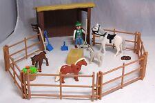 Playmobil Pferd Fohlen Pony Eselchen Koppel Gatter Hütte Unterstand Futter #3