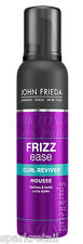 John Frieda Frizz Ease CURL REVIVER Styling MOUSSE 200ml For Wavy/Curly Hair