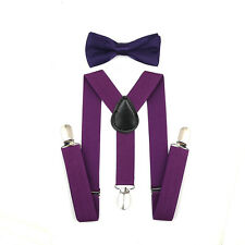 SUSPENDER and BOW TIE Matching SET Tuxedo Wedding Suit Party for Baby Boy Kids