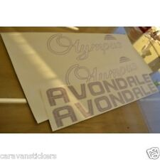 AVONDALE Olympus Caravan Stickers Decals Graphics - SET OF