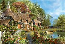 Puzzle Cottage am Ufer, 4000 Teile, Natur, Garten, Dominic Davison, Educa