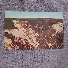Vintage Postcard Spectacular View Of The Grand Canyon Yellowstone National Park