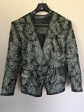 JEAN-CLAUDE JITROIS Black Women's Vintage Leather Jacket/Coat/Blazer