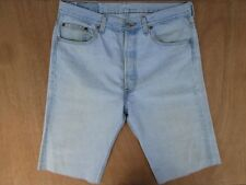 "MEN`S LEVI`S 501 DENIM SHORTS WAIST 33""W RED TAB VINTAGE CUT OFF MADE IN USA"