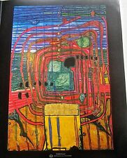 Friedensreich Hundertwasser Poster Homage to Taoism  (self renunciation) 14x11