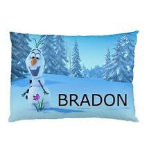 OLAF FROZEN Personalized childrens kids BED pillow case