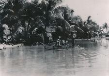TAHITI c. 1940 - Iles-sous-le-Vent Habitations Pirogues  Pêcheurs   - T166