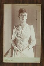 Mary of Teck Queen of the United Kingdom England Photo Cabinet card Byrne & Co