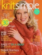 Vogue Knit Simple Fall 2008 Sweaters Vest Tote Bag Hat Mittens Patterns