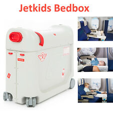 JetKids Bed Box Kids Travel Luggage Rolling Suitcase Children Holiday Bedbox Red