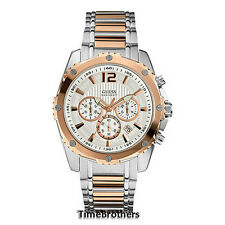 NEW GUESS WATCH for Men * Chronograph * Rose Gold Top Ring * Date * U0165G2