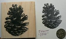 Pinecone rubber stamp P49C