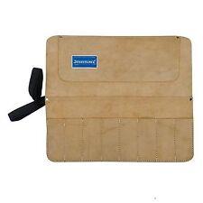 Chisel & Tool Roll 8 Pocket Split suede leather bag carrier toolbag