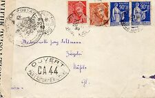 FRANCE 1939 COVER TO SWITZERLAND WITH CENSOR TAPE & MILITARY CENSOR CACHET