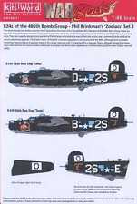Kits World Decals 1/48 B-24 LIBERATOR ZODIACS #3 Gemini & Scorpio