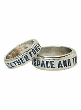 DR WHO BFF LOVERS TOGETHER FOREVER SPACE & TIME TARDIS BOX 2 RING SET SIZE 7 10