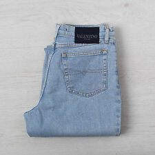 Vintage Valentino Women's Jeans W29 L30 High Waisted Mom Boyfriend Blue Denim