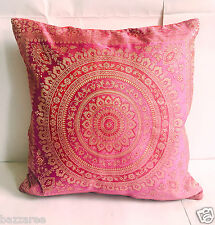 Indian Patchwork Mandala Sari Ethnic Vintage Banarasi Cushion Cover 16x16 40x40