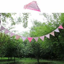 Vintage Wedding Garden Party Floral Fabric Bunting Flag Banner Garland 3.2 Metre