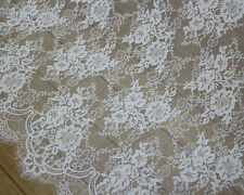 3 Meters French Chantilly Style Eyelash Double Edge Lace Fabric~Wedding Dress S7