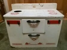 Vintage empire metal toy stove and oven.