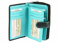 Visconti Large Multi Compartment Ladies Leather Purse Wallet In Gift Box - CD22