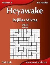 Heyawake: Heyawake Rejillas Mixtas - Dificil - Volumen 4 - 276 Puzzles by...