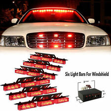 54 LED Red Emergency Car Vehicle Strobe Lights Bars Warning Police Fire Fighters