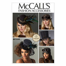 McCall's M7335 5 Hats, Top Hat, Aviator, Cosplay, Steampunk Sewing Pattern