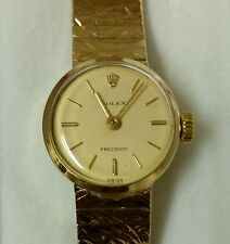 ROLEX PRECISION SOLID GOLD LADIES WATCH             PRESTINE MINT Chronograph