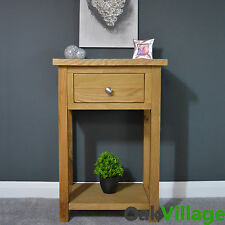 OAKWOOD OAK SMALL CONSOLE TABLE / HALL TABLE / SOLID WOOD / TELEPHONE TABLE /