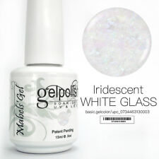 15ml Mabel's Gel Nail Art Soak Off Color UV Gel Polish - Iridescent White Glass