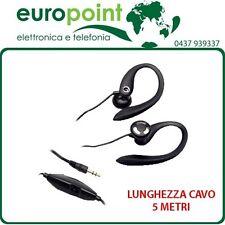Auricolari cuffie stereo 5 metri di cavo ideali per TV Mp3 Mp4 CD Dvd