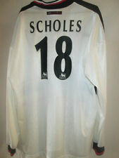 Manchester United 1997-1999 Scholes Away Football Shirt XL long sleeve 15453