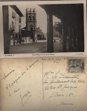 Tarjeta Postal. La Bañeza. (León). Plaza Mayor y Torre de Santa Maria.