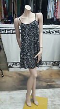 Lovely  Urban Outfitters Pins and Needles Black Strechy Floral Dress Size S