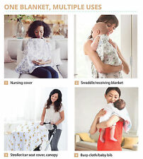 Wholesale Lot of 20 KaWaii Baby Bamboo Receiving Swaddling Blankets Multi Uses
