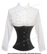 18 Steel Double Boned Waist Training PVC Underbust Shaper Corset #9965B-DB-PVC