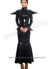 100% Latex Rubber Gummi 0.45mm Dress Skirt Catsuit Suit Long Bodysuit Zip Unique