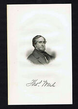 Thomas Ward- American Poet & Physician -1855 Steel Engraved Print