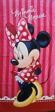 BRAND NEW MINNIE MOUSE PINK BEACH/BATH/POOL/SWIM COTTON TOWEL CHRISTMAS TOY