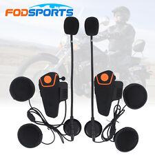 2x BT-S2 1000M Intercomunicador Interphone Bluetooth Auriculares Interfono Moto