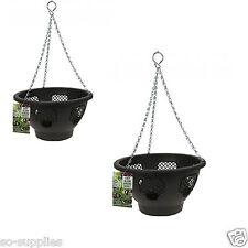 2 x remplissage facile Bloom paniers suspendus Jardin Pot Fleur Panier conteneur