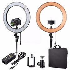 """US ES240 18"""" 5500K Dimmable LED Adjustable Ring Light with Diffuser , Ball Head"""