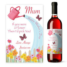 Personalised Mothers Day Wine label gift for Mum